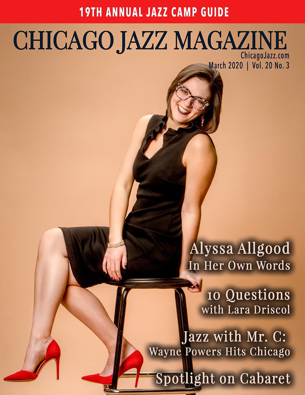 Chicago Jazz Magazine Cover with Alyssa Allgood