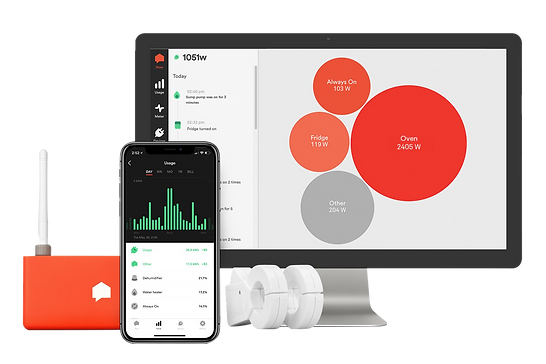Sense home energy monitoring system with computer, cell phone, and sense home energy monitoring device