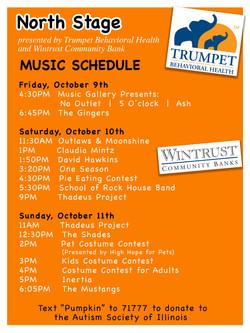 Highwood Pumpkin Festival 3ft x 2ft Stage Schedule