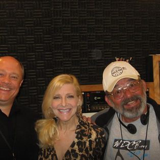 Ken Scott, Laury and Bruce Oscar at the WDCB radio station.