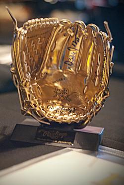 Golden Baseball Glove