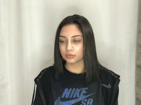 Hair Transition - Corrective Color Sq Gloss and Mocha Sq Cream