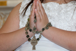 Praying Hands with Family Heirloom