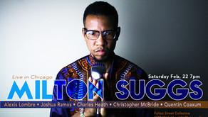 Vocalist/Composer Milton Suggs at Fulton Street Collective on Saturday
