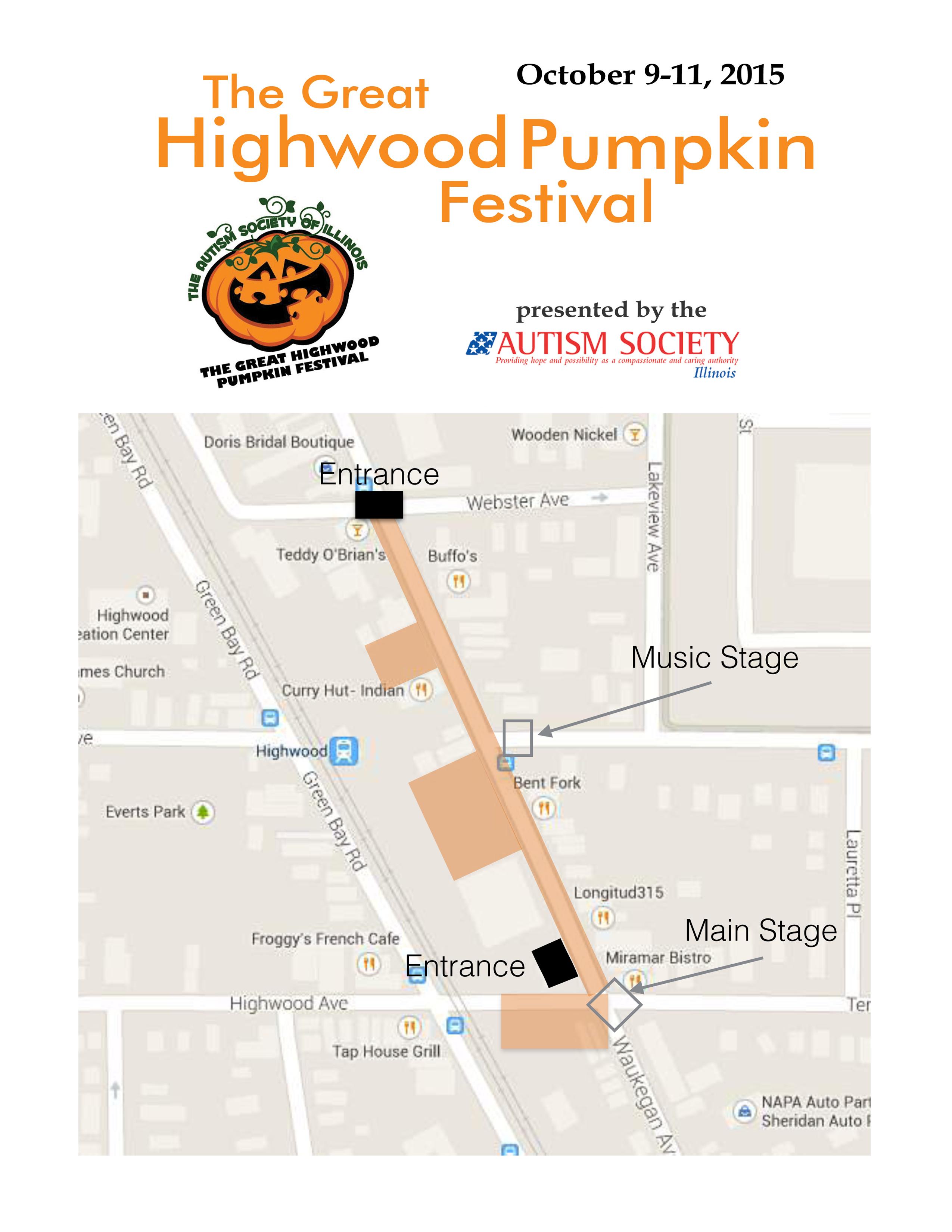 Highwood Pumpkin Festival Site Map