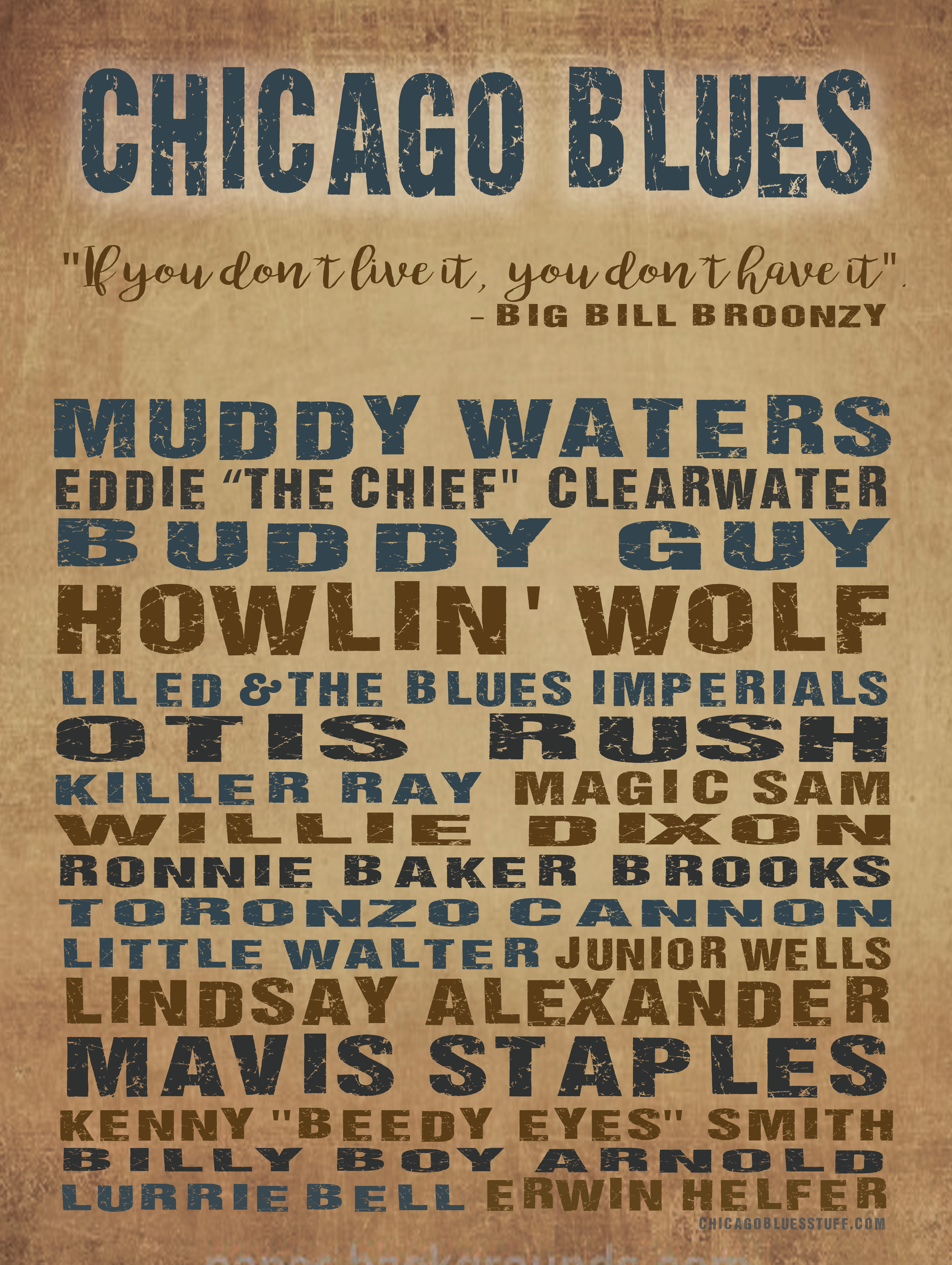 """18"""" x 24"""" Chicago Blues Poster"""