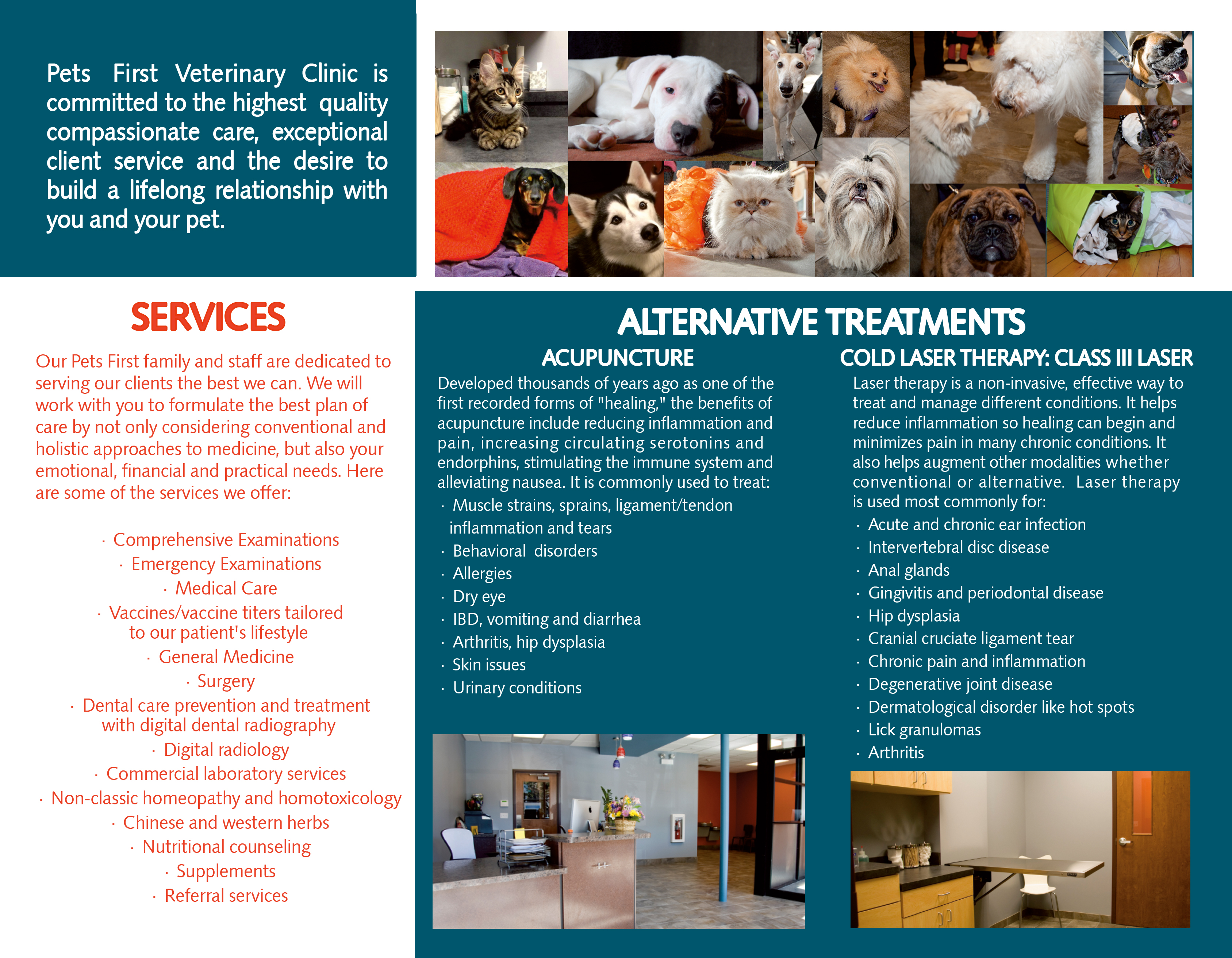 Pets First Brochure