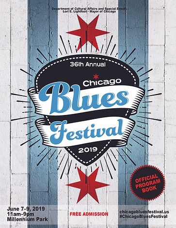 CHICAGO BLUES OFFICAL PROGRAM COVER 2019