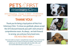 Pets First Thank You Postcards