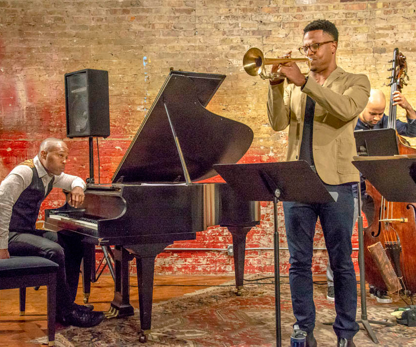 """The Clif Wallace Quintet performed Lee Morgan's 1965 recording, """"INFINITY"""" at Chris Anderson's Fulton Street Collective in Chicago. Clif Wallace – Drums, Justin Copeland – Trumpet, Lenard Simpson – Alto, Richard Johnson – Piano, Christian Dillingham - Bass."""