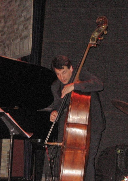 Iconic bassist John Patitucci perfomring with Michele Legrand, Laury and renowned drummer Willie Jone III at he Dakota jazz club in Minneapolis, MN.