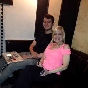 """Assistant engineer Brandon Mille and Laury during a session for her recording """"Time is a Healer"""""""