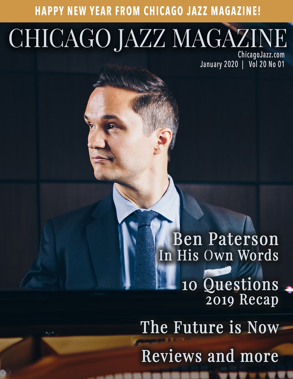 Chicago Jazz Magazine Cover with Ben Paterson