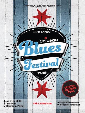 Official Chicago Blues Festival Program Cover