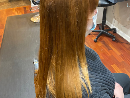 Before and After Honey Blonde