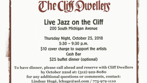 Cliff Dwellers Jazz Series - October 25th with the Chris White Trio
