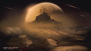 Surreal Alien Castle