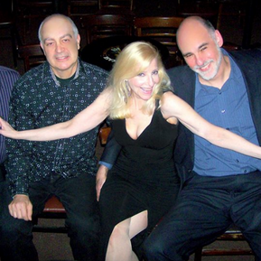 Laury's first concert at the Jazz Showcase with Chicago's top musicians, tenor saxaphonist Mark Colby, bassist Eric Hochberg, Laury, pianist Jeremy Kahn and drummer Bob Rummage.
