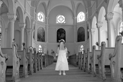Standing in the Church Black and White