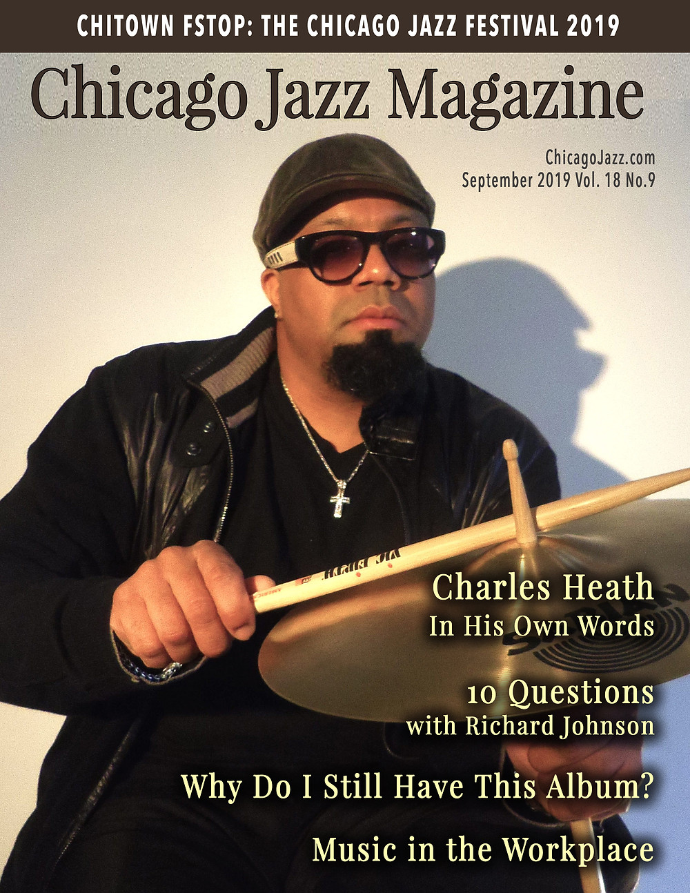 Chicago Jazz Magazine Cover with Charles Rick Heath IV