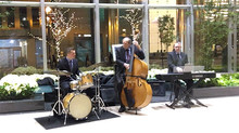 Monday Morning Jazz Trio: Holiday Tunes in the Lobby of an Office Building!