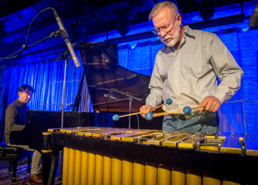 Gary Burton performs a sound check at SPACE in Evanston March 14, 2017