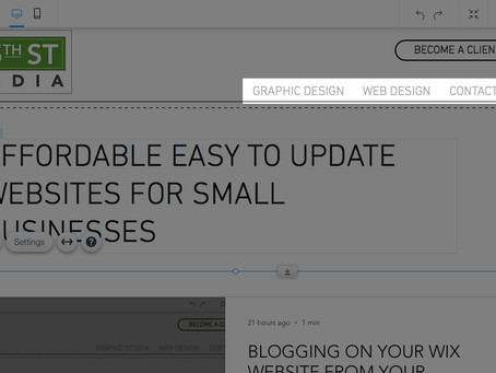MANAGING YOUR MENU/PAGES ON YOUR WEBSITE IN WIX