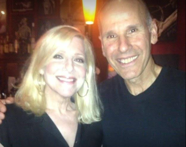 Laury and pianist Russ Ferante of the Yellow Jackets at the Jazz Showcase concert.