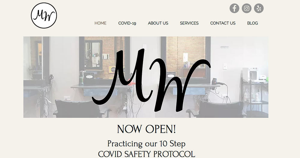 Modern Wave Salon Home Page