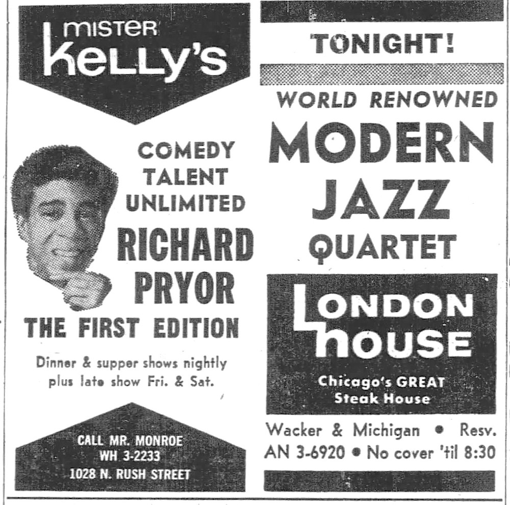 Richard Pryor appeared at the club with The First Edition (Kenny Rogers) in spring 1968.