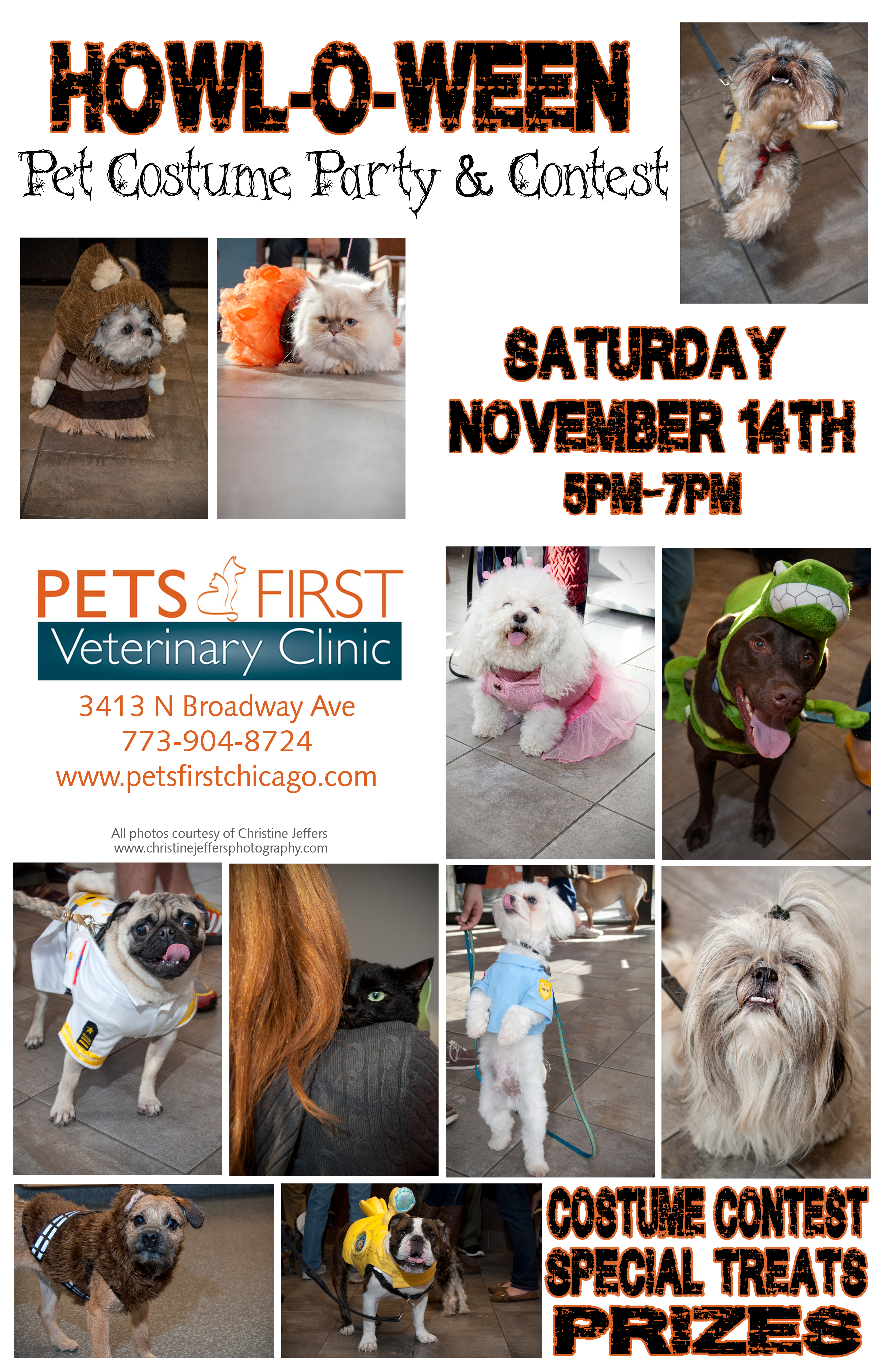 Pets First Howl-A-Ween Party Flyer