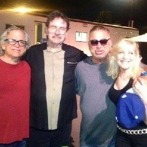 Toto concert - Keyboardist Steve Porcaro, Lee Montgomery, pianist David Paich, and Laury.