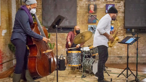 The Isaiah Spencer Trio at Fulton Street Collective photos by Harvey Tillis