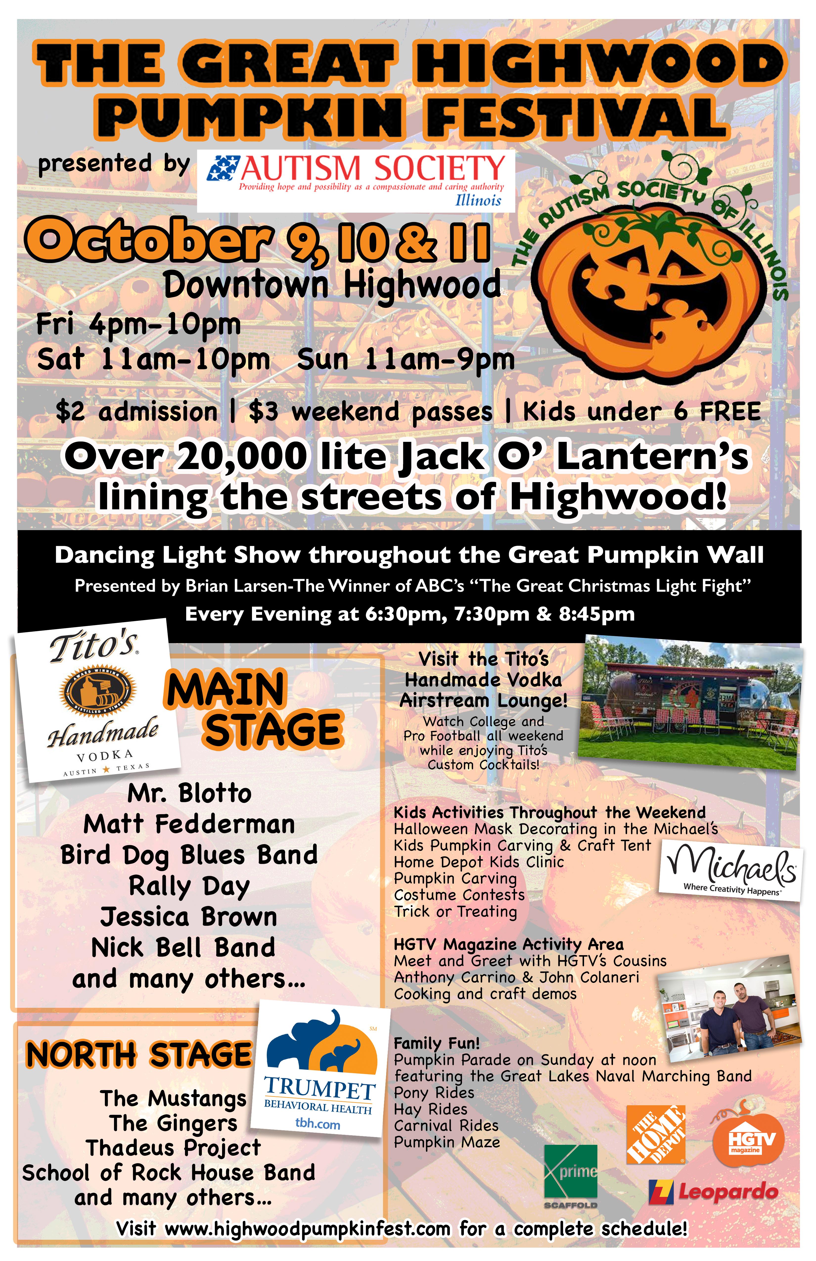 Highwood Pumpkin Festival Flyer