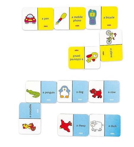 Divpusējs domino - Dzīvnieki un priekšmeti