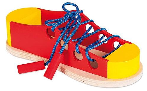Koka veramā rotaļlieta - Lielā kurpe