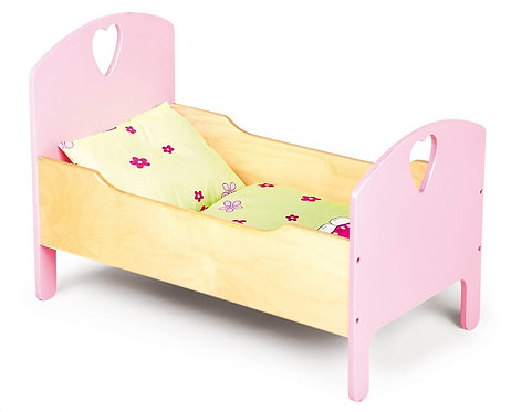 Koka leļļu gultiņa