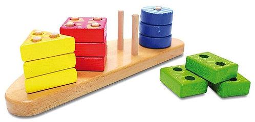 Koka rotaļlieta - 4 Figūras