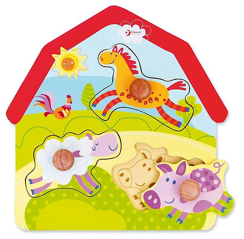 Koka puzle - Fermas dzīvnieki