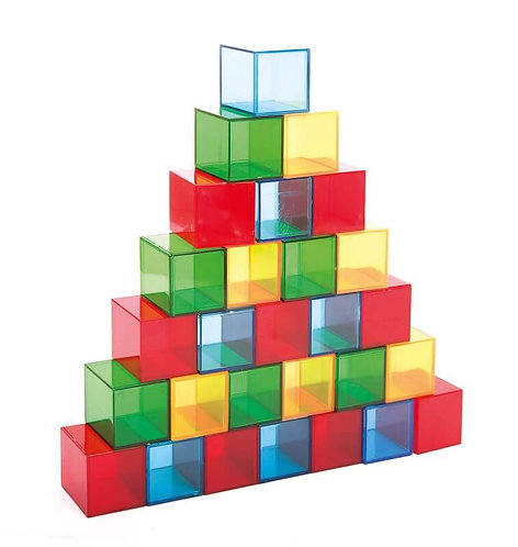 Krāsaini caurspīdīgi kubi