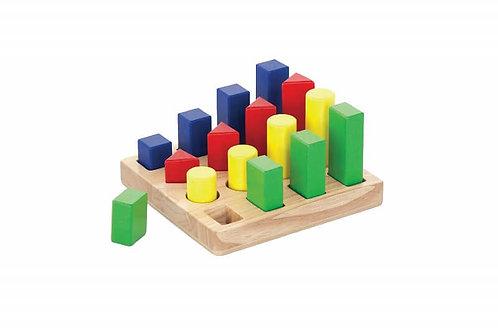 Koka attīstošā rotaļlieta - Ģeometriskās Figūras