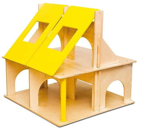 Koka rotaļu leļļu māja