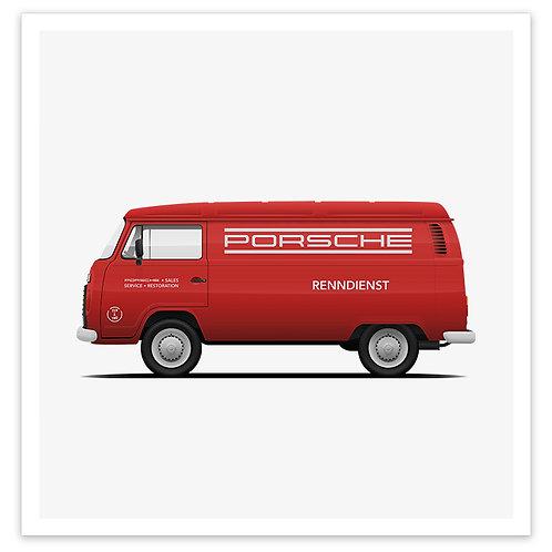 Kombi - Porsche Red