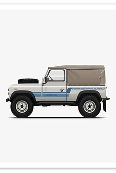D90 Soft Top - White / Blue