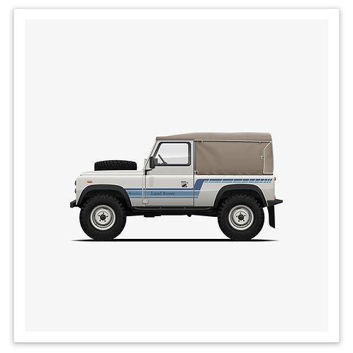 D90 Soft Top - White / Blue