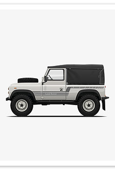 D90 Soft Top - White / Grey