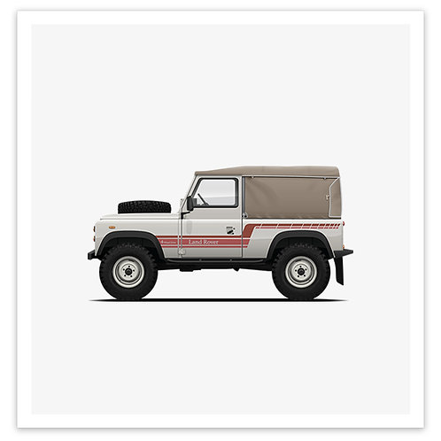 D90 Soft Top - White / Red