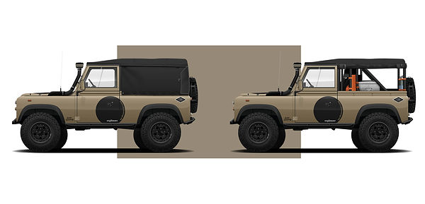 Land ORver Defender 90 D90 illustration