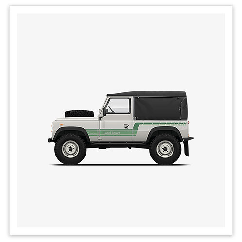 D90 Soft Top - White / Green
