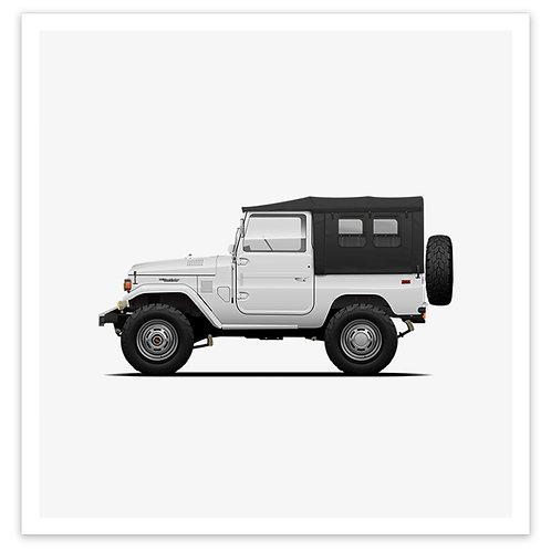 FJ40 Soft Top - White